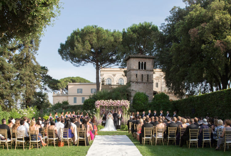 Destination Jewish Wedding Villa Aurelia Rome Italy