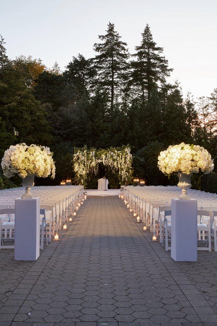 Jewish Wedding Botanical Garden The Bronx New York Usa