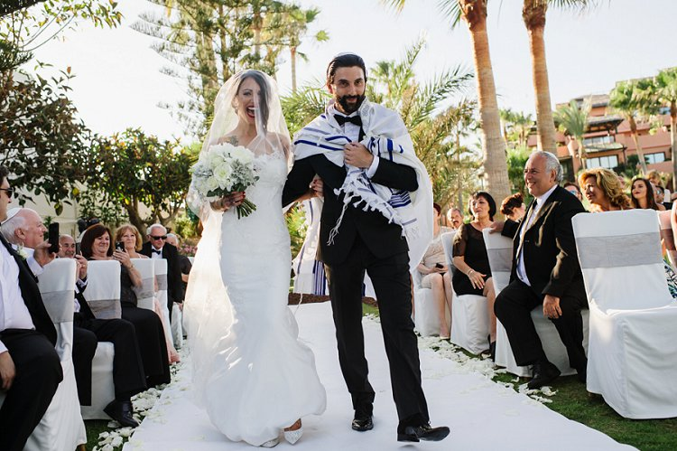 Wedding In Spanish.A Destination Jewish Wedding With A Beach Chuppah And Midnight Fire