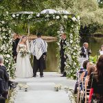 A Stewart Parvin Bride for an Epic Secret Garden Jewish Wedding with a Viral Best Man Video at Thornton Manor, Cheshire, UK