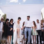 A Meital Zano Bride for a Jewish Gender-Equal Wedding at Kibbutz Ruhama, Israel