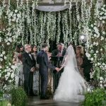 A Vera Wang Bride for a SUPER Luxe Jewish Wedding with a 20-Person Bridal Party and Epic Chuppah at Bacara Resort & Spa, Santa Barbara, California