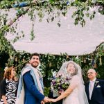 A Maggie Sottero Bride for a Jewish Wedding with a Living Tree Chuppah at Micklefield Hall, UK