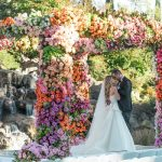 A Monique Lhuillier Bride for a SUPER Luxe Jewish Wedding with an EPIC Colorful Chuppah at Four Seasons Hotel Westlake Village, California, USA