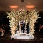 An Amanda Wakeley Bride for a London-Chic, Rose Gold and Grey Jewish Wedding at Rosewood, London, UK