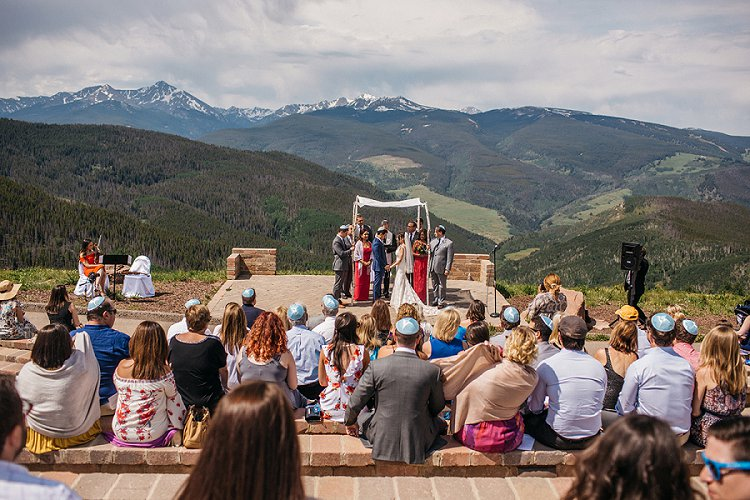 Jewish Wedding Vail Wedding Deck, Vail, Colorado, USA_0087