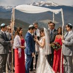 A Naturally Beautiful Jewish Wedding in the Colorado Mountains at Vail Wedding Deck, Vail, Colorado, USA