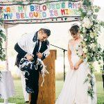 A Paolo Sebastian Bride for a Whimsical Outdoor Jewish Wedding at Farmington, Pennsylvania, USA