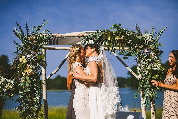 Destination Jewish wedding Private Residence, Kittery, Maine USA