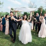 A BHLDN Bride for a Rustic Outdoor Jewish Wedding at Beckendorff Farms, Katy, Texas, USA