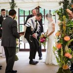 A Garden-Themed Jewish Wedding with an Allure Bridals Gown at Duntreath Castle, Blanefield, Scotland, UK