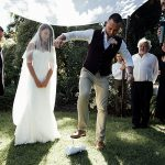 A Pronovias Bride for a Super Spiritual Outdoor Jewish Wedding at the Royal Botanical Gardens, Melbourne, Australia