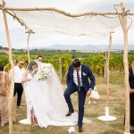 A Graces Loves Lace Bride for a Rustic Outdoor Jewish Wedding at Acacia Ridge Winery, Yarra Glen, Yarra Valley, Australia