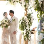A Corston Couture Bride for a Destination Jewish Wedding with an Orchid Chuppah at Akyra Beach Club, Phuket, Thailand