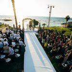 A Paloma Blanca Bride for a Beachside Destination Jewish-Scottish Wedding at Al Hayam, Caesarea, Israel