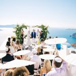 A Jadore Bride for a Sundrenched Destination Jewish Wedding in Santorini, Greece