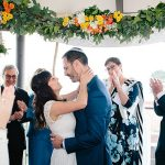 An Adrianna Papell Bride for a Colorful, Intimate Jewish Wedding with a View at Greens Restaurant and Fairmont Heritage Place, San Francisco, USA
