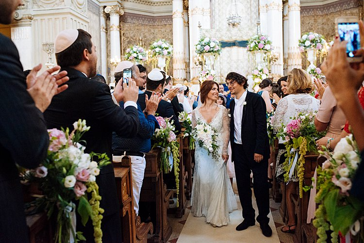 Destination Jewish Wedding Synagogue + Villa Aurelia Rome Italy