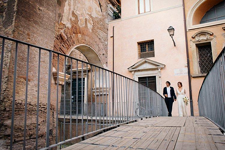 Destination Jewish Wedding Synagogue + Villa Aurelia Rome Italy