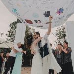 A Limor Rosen Bride for a Playful DIY Jewish Wedding at Ikea and Alma, Even Yehuda, Israel
