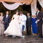 A Chana Marelus Bride for a Pretty in Pink Fairy Tale Jewish Wedding at Ein Chemed, Jerusalem, Israel