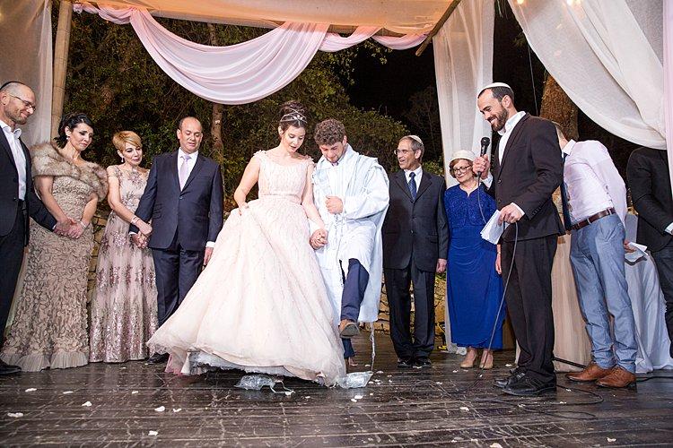 Jewish wedding Ein Chemed outside Jerusalem