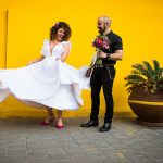 A Laid-back, Colorful Jewish Wedding (with two glass smashes!) at High& in Tel Aviv, Israel