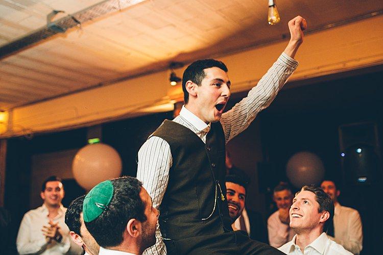 Jewish wedding at Victoria Warehouse Manchester UK