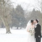 A Stella York Bride for a Winter Wonderland Jewish Wedding at Warren Weir, Luton Hoo, UK