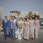 An Ultra-Stylish Modern English Garden Party Jewish Wedding at Bayit Al Ha'Yam, Jaffa, Israel