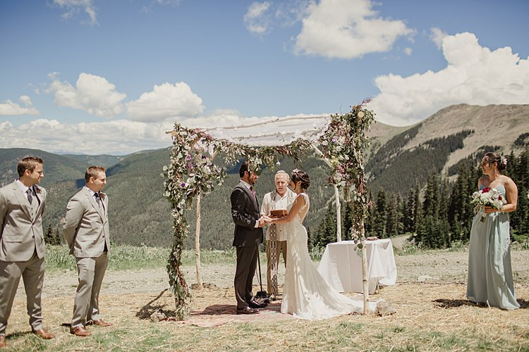 Jewish Wedding at 11,420 feet on the top of a mountain (Kachina Basin) in Taos Ski Valley, New Mexico USA_0008