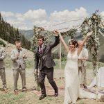 A Sincerity Bridal Bride for a Mountain Top Jew-ish Wedding at Kachina Basin, Taos Ski Valley, New Mexico, USA