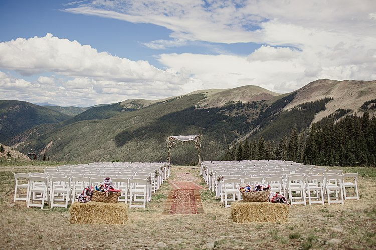 Jewish Wedding at 11,420 feet on the top of a mountain (Kachina Basin) in Taos Ski Valley, New Mexico USA_0040