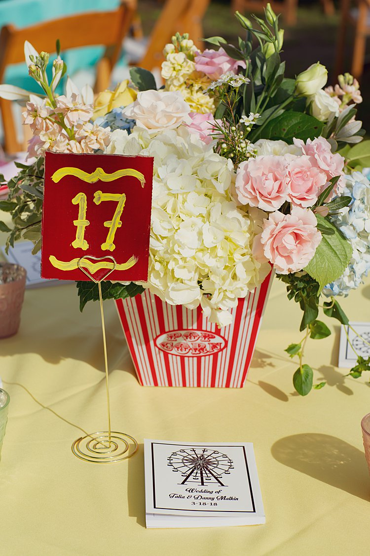 Jewish wedding Carnival Wedding at parents' backyard California USA_0020