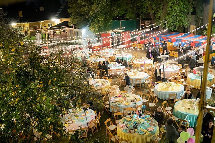 Jewish wedding Carnival Wedding at parents' backyard California USA_0020