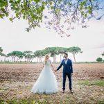 A Milla Nova Bride for a Multicultural Outdoor Jewish Wedding at Hatzer Netzer in Netser Sereni, Israel