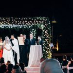 A Romona Keveza Bride for a Glam Multicultural Destination Jewish Wedding at Ronit Farm in Kfar Shmaryahu, Israel