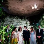 An Epic Enchanted Garden-Themed Jewish Wedding with Airplanes, Classic Cars, and a Carousel at Bicester Heritage, Bicester, UK