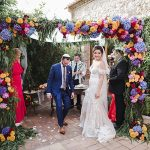 A Calla Blanche Bride for a Colorful Outdoor Destination Jewish Wedding at Casa Felix in Barcelona, Spain