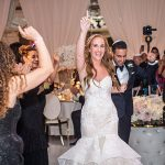 A Monique Lhuillier Bride for an Ultra-Glam Old Hollywood Jewish Wedding at the Four Seasons, Los Angeles, California, USA