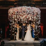 A Maria Farbinni Bride for an Ultra Glam Jewish Wedding with a Mirrored Peony Chuppah at the Metropolitan Club, New York City, USA