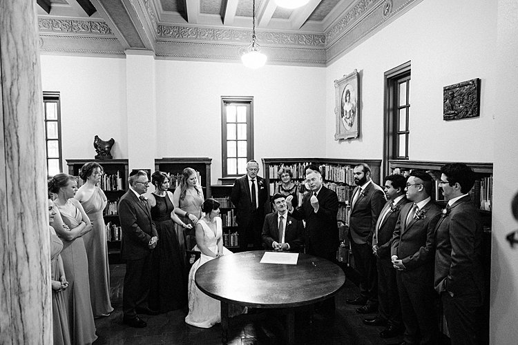 Jewish wedding Ideson Library in Houston, Texas, USA_0004