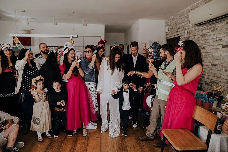 Jewish wedding best friends apartment in Purim, Tel Aviv, Israel_0013