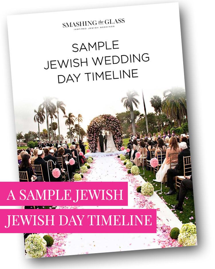 Jewish Wedding Day Timeline