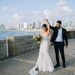 A Limor Rosen Bride for an Ashkenazi-Yemenite American-Israeli Jewish Wedding at Bayit Al Hayam in Jaffa, Israel