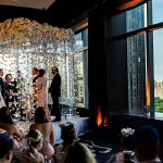 An Isabelle Armstrong Bride for a Jewish Wedding with Killer Manhattan Views and an Orchid Chuppah at the Mandarin Oriental Hotel, New York, New York, USA