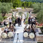 An Eliza Jane Howell Bride for a Cabana Chic Jewish Wedding with a Mirrored Chuppah at the Park Hyatt, Mallorca, Spain