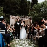 A Crystal Design Bride for a Romantic Destination Jewish Wedding with Moody Florals and Fireworks at Villa Montefiano, Fiesole, Florence, Tuscany, Italy