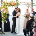 An Alexandra Grecco Bride for a City Chic Jewish Wedding with Bright Florals at Tribeca 360, New York City
