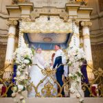 A Suzanne Neville Bride for a Destination Jewish Wedding at the Great Synagogue and Villa Miani, Rome, Italy